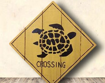 Turtle Sign - Crossing Sign - Sea Turtle - Beach Decor - Animal Crossing - Beach Signs - Turtle - Turtle Crossing Sign - Birthday Gift