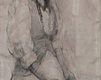 Milkmaid, 49x24.5 inches