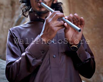 Jordan Photography, Guy with Pipe, Travel Photography, People Photography, Fine Art Photography, Print Photography, Vertical Wall Art