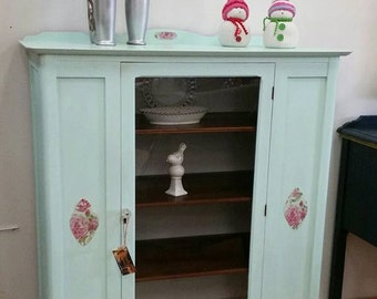shabby chic furniture, farmhouse style furniture, painted furniture, chalk painted, china cabinet, linen cabinet, old fashioned furniture