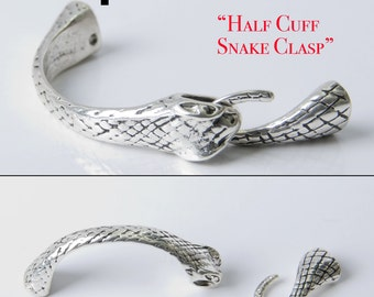 Half Cuff Snake Clasp Glue in, ideal for Kumihimo or leather!