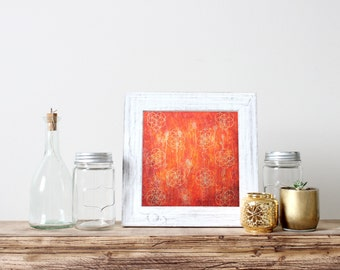 Fire Flower of Life: Ignite the Passion - Fine Art Print - handmade and signed by artist