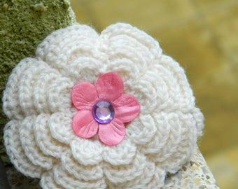 Hair Clip, Crochet Flower Hair Clip, Flower Barrette,Spring Hair Clip, Summer Hair Clip, Hand Crochet Flower Hair Clip, Hair Barrette