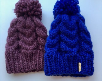 Chunky Cable-Knit Hat // THE MAREN // Choose Your Color!