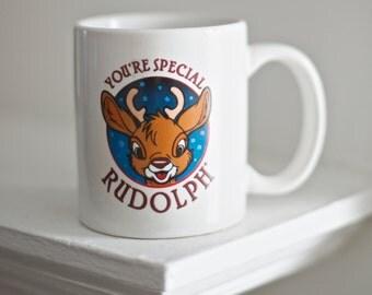 Vintage Rudolph Christmas Mug | You're Special Rudolph