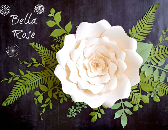 Giant paper flower printable templates paper flowers svg cut files il570xn mightylinksfo