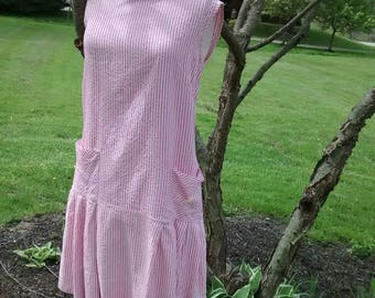 1960s Pink Striped Shift