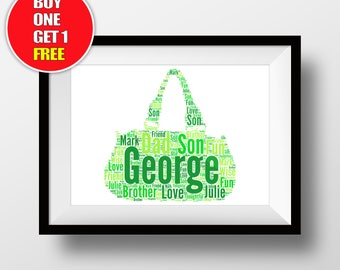 Handbag artwork,  Handbag present, Handbag, Handbag word art