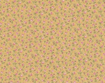 Prima - Per Yd - Paintbrush Studio -  Small Floral on Yellow