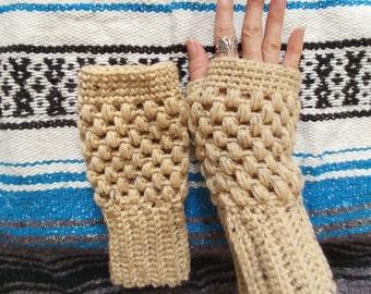 Boho fingerless gloves , fingerless mittens , arm warmers , fingerless gloves , winter gloves , crochet gloves