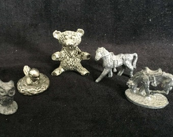 Five Pewter Figurines