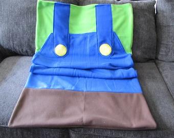 Luigi Fleece Sack Blanket