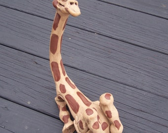 lounging  giraffee figure// card holder