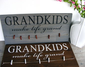 Grandparents Sign - Second Baby Announcement - Sonogram Announcement - Gift for Grandma - Gift for Grandparents Day - Pregnancy Announement