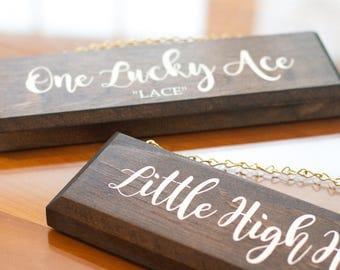 Custom Handmade Wooden Stall Nameplate