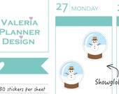 REGULAR - A0188 - Christmas - Now Globe stickers - Planner Stickers - Decorative stickers - Holidays sticker, Winter stickers