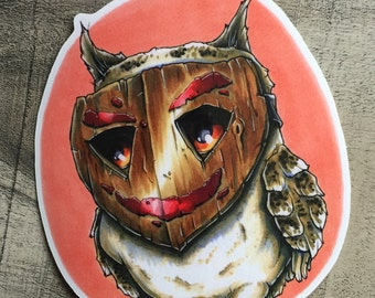 Masked Owl Sticker