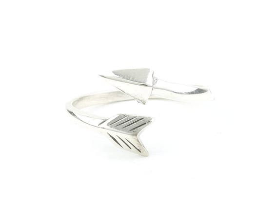 Sterling Silver Arrow Ring, Wrap Around Arrow, Boho, Bohemian, Gypsy, Festival Jewelry, Southwestern