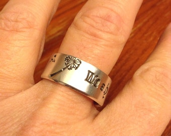 Personalized Hand Stamped Ring - Custom Hand Stamped Ring - Personalized Ring - Custom Ring - Gift for Her
