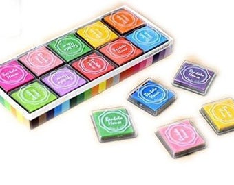 Ink Pad Set 20 Pieces - Stamp Ink Pad