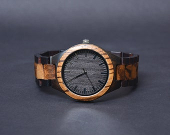 Wooden Watch Personalized Gift For Men ,Engraved Groomsmen Gift Personalized Boyfriend Gift ideas for husband Anniversary Gift