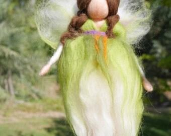 Forest Fairy Needle Felted, Wool Fairy, Waldorf inspired fairy doll, Hanging Angel, felt fairy, fairy doll, waldorf fairy, needle felted