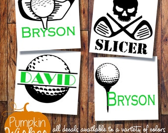 GOLF decal / Golf Monogram sticker / Golf Bag Decal / Vinyl decal /Vinyl monogram /Yeti decal/Car decal/Laptop decal/Yeti cup decal