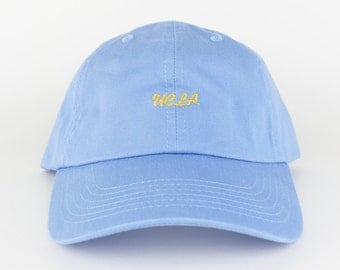 UCLA Hat - Blue Gold Yellow Embroidered Dad Hat - Polo Hat - Curved Brim Six Panel Fabric Strap Hat - Brand New