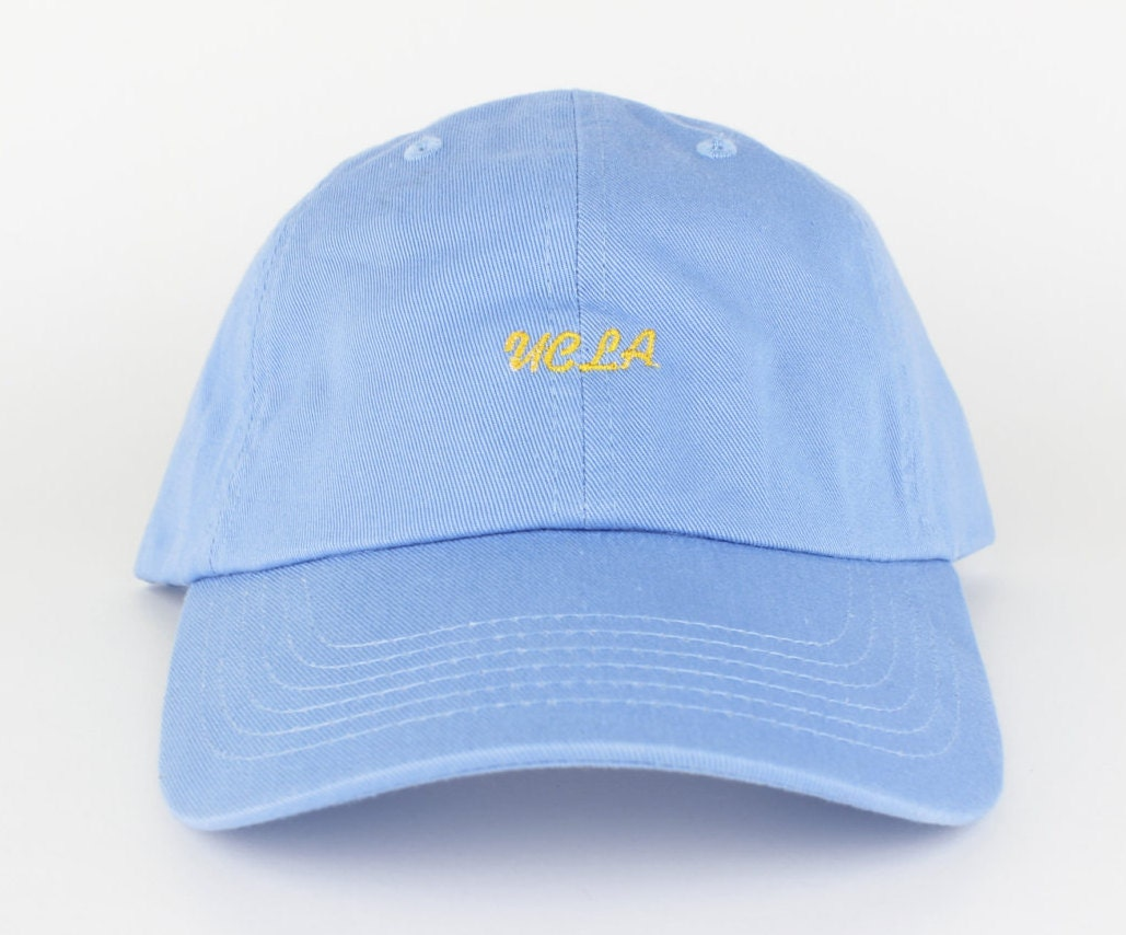 Color printing ucla - Ucla Hat Blue Gold Yellow Embroidered Dad Hat Polo Hat Curved Brim Six Panel Fabric Strap Hat Brand New