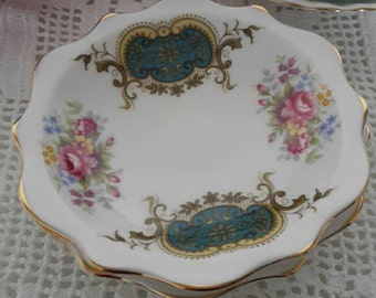 Two Royal Albert Berkeley Coasters First Quality Butter pats / mini plates / Trinket Dish First Quality 1960s