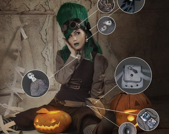 Steampunk Halloween Costume — Otto and Victoria — Cosplay Costume