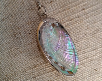 Mother of Pearl Shell Y necklace - Gift - For Her