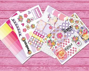Floral Romance Planner Sticker Kit (HP Size)