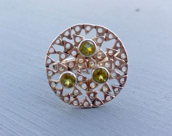 Peridot Sterling Silver Ring, Peridot in Sterling Silver, Peridot Birthstone Ring, Size 8, August Birthstone, Peridot Ring Sterling Silver