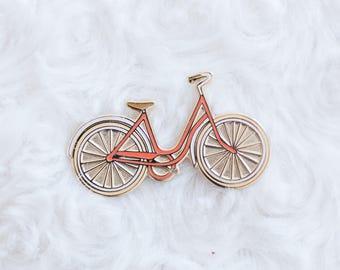 Hard enamel bicycle pins