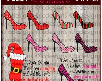 LC154 - Dear Santa with Stilettos and Boots
