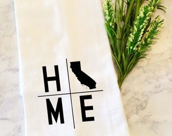 Personalized State Tea Towel, Personalized  Dish Towel, Kitchen Towel, Dish Cloth, Tea Towel, Flour Sack Dish Cloth, Hand Towels