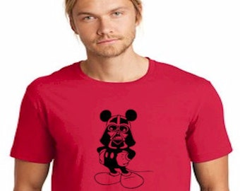Disney Mickey Mouse Darth Vader Star Wars T Shirt *FREE SHIPPING*
