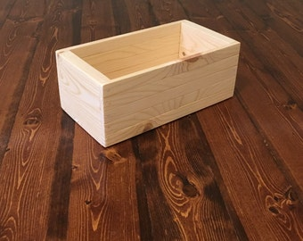 wooden crate 5.25 X 10 X 3.75