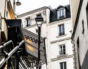 Paris Steps - Paris Street Photography - French Decor -  Wall Art Print - Paris Decor - Fine Art Photography  - Steep Steps - 0013