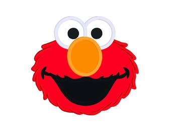 Elmo Face Embroidery Design File 5x7, Sesame Street Embroidery, Elmo Embroidery, Elmo Appliqué Design File 5 x 7