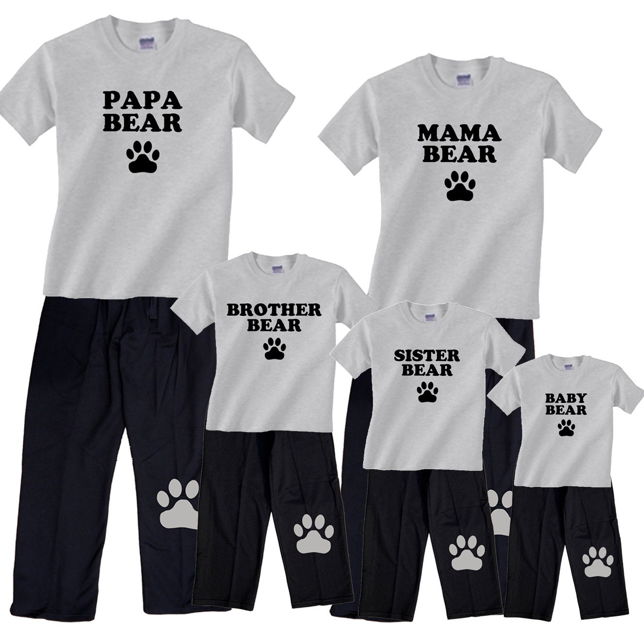 Bear Family Matching Pajamas For The Whole Family Mama Bear