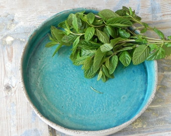 Turquoise gray bowl