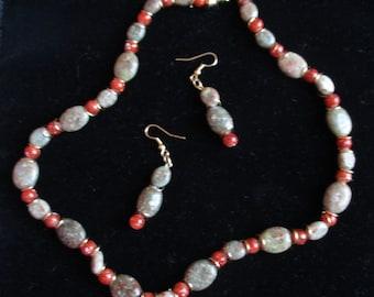 Jewelry Set: Red Dahlia