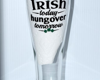St. Patrick's Day Irish Pilsner Beer Glass