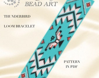 Bead loom pattern - Thunderbird LOOM bracelet pattern in PDF - instant download