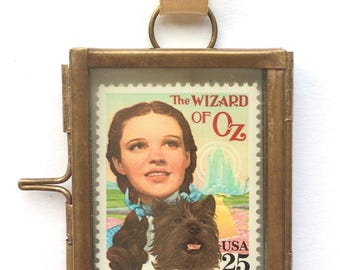 Wizard of Oz - Wizard of Oz Gifts - Judy Garland - Wizard of Oz Art - Vintage Ornaments - Vintage Framed Art - Miniature Frames - Toto