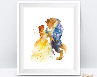 Beauty and the Beast Print Beauty and Beast Wedding Belle Art Beauty and the Beast Party Gift Disney Wall Art Gift For Mom Digital Download