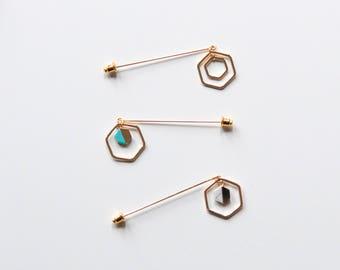 Geometric Hijab Pin | Hijab Accessories