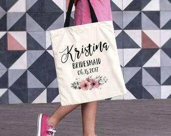 Bridesmaid Tote Bag , Personalized Tote, Bridesmaid Bag